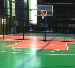 学校操场涂膜常见哪些篮球场地坪漆材料